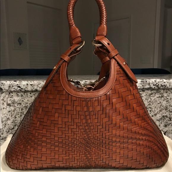 96fc2ef81cdb Cole Haan Handbags - ⭐️Cole Haan Genevieve Woven Leather Triangle Bag